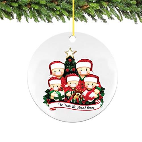 Blingko Weihnachten Dekoration AnhäNger Deko Doll Weihnachtsdeko Weihnachtsbaum ÜBerlebte Familie DIY Ornamente Personalisierten Baum Weihnachtsbaumschmuck (B)