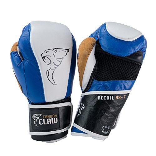 Carbon Claw - Handschuhe mit Recoil rx-7Leder Tasche,-18oz in der Farbe: Blau/Weiß