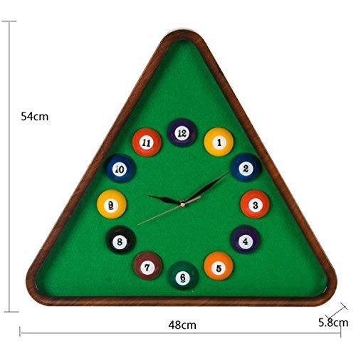 Eif FEI - Reloj de Pared con diseño de Bolas de Billar para habitación de los niños (plástico, silencioso, Cuarzo, 54485,8 cm, 1 Unidad), Color Verde: Amazon.es: Hogar