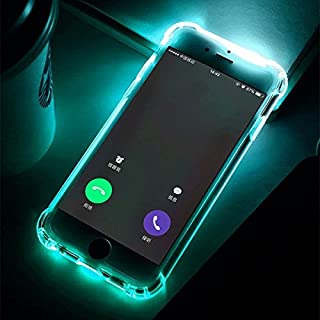AOXIANG LED Call Light Up Flash Transparent Case For iPhone 7/8,7/8 Plus Phone Case Soft TPU