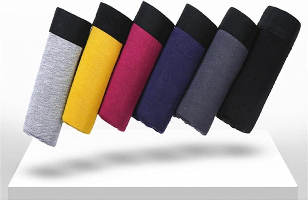 DIAOD 6pcs/ Boxer Men Fiber Mens Underwear Boxers Men's Breathable Panties Boxershorts (Color : Multicolor, Size : Europe L Asia XXL)