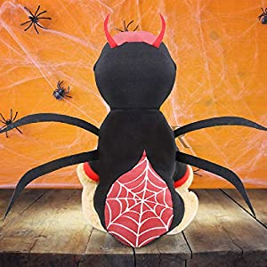 Idepet Chien de Compagnie Halloween Costume Araignée Chats Dressing Up Vêtements Vêtements Costume Petit Chien De Taille Moyenne Chihuahua De Noël Halloween Costumes Outfit