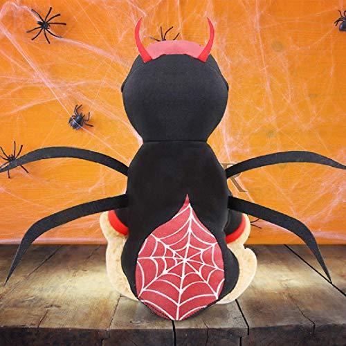 Idepet Haustier Hund Halloween Spinne Kostüm Katzen putzt Sich Haustier Kleidung Anzug für Welpen kleine mittlere Hunde Chihuahua Teddy Mops Weihnachtsfeier Halloween Kostüme Outfit (L)