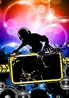igsticker ポスター ウォールステッカー シール式ステッカー 飾り 841×1189㎜ A0 写真 フォト 壁 インテリア おしゃれ 剥がせる wall sticker poster 004676 クール 音楽 パーティー イラスト