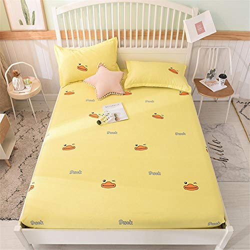 Mattress Protector,100% Cotton Children'S Cartoon Mattress Protector, Printed Fitted Sheets For Boys And Girls Apartments-N_180x220+28cm