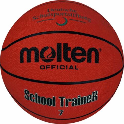 Molten - B7ST, Pallone da basket, 7, colore: Arancione