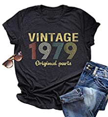 ღ T Shirt Material:Material: Cotton Blend, Breathable Lightweight,Made of Soft Stretchy Fabric,Quite Well Received by Women for Cool and Fresh Summer Style. ღ T Shirt Features:Vintage 1979 Rock Music Tank Tops,Cute Music Letter Print Graphic Vest,Sho...