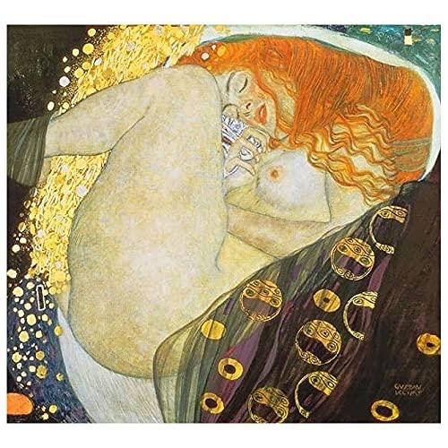Legendarte - Cuadro Lienzo, Impresión Digital - Dánae - Gustav Klimt - Decoración Pared cm. 50x60