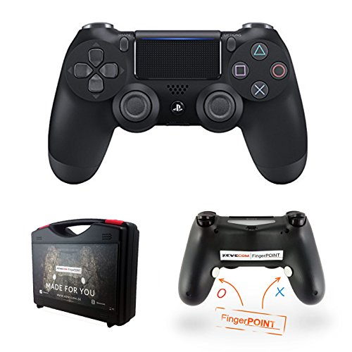 Kewecom Playstation 4 FingerPOINT Ps4 Scuf Controller - Schwarz Matt V2 (2016) - Premium Pack Edition