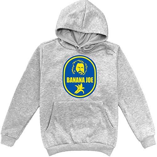 Sartamke Bud Spencer Banana Joe Grauer Unisex Sweatshirt Hoodie Pullover Large