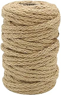 Jute Rope 5mm x 20 Meter Natural Thick Hemp Twine Cord for Cat Scratcher, Gardening Tools, Bundling, DIY Crafts Decoration