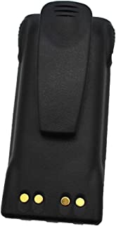 GoodQbuy 1500mAh NI-MH Replacement Battery for Motorola Radio HT750 HT1250 GP320 GP328 GP338 HNN9008 HNN9008A HNN9008AR HNN9008H HNN9009 HNN9012 + Belt Clip