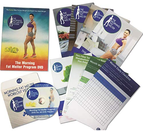 Morning Fat Melter Workout DVD for Women - Lose At Least 3 Pounds/Week With Our Weight Loss Program - 11 Workout Videos + 30 Days Meal Plan - 5 Printed Manuals & 1 Exercise DVDs