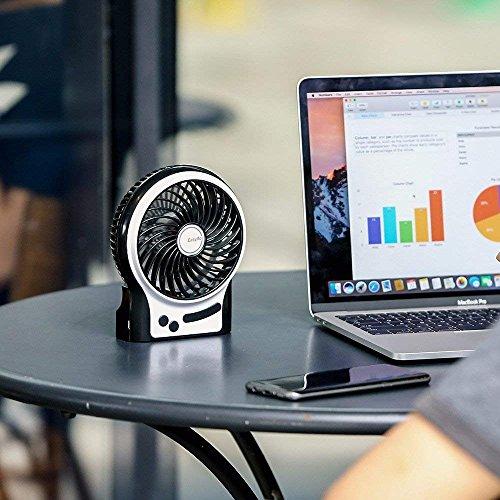 EasyAcc Mini Desktop USB Ventilator Bild 5*