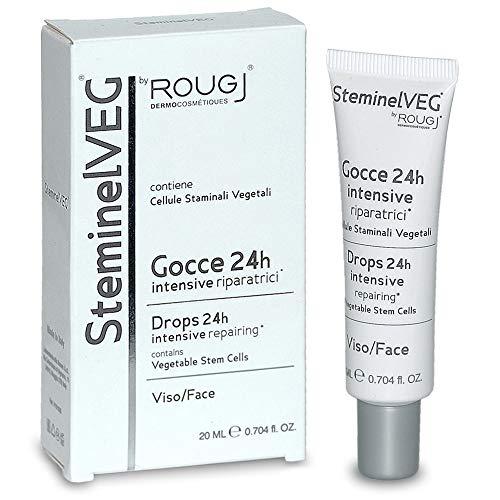 Rougj SteminelVEG Intensives Gesichtsserum 24h in Tropfen - 20 ml | Repair mit pflanzlichen Stammzellen