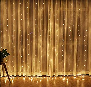 LED Window Curtain Light 304 LEDs Icicle Fairy String Christmas Lights for Bedroom Wedding Garden Patio Wall Outdoor Decor...