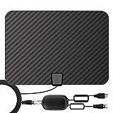 [2020 Latest] HDTV Digital Antenna, Professional Carbon Fiber Indoor TV Antenna,80-120 Mile Range
