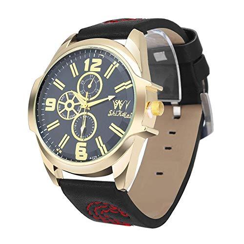 Reloj de Hombre Reloj de Pulsera de Cuarzo de Marca Dorado para Hombre Reloj de Pulsera de Acero Inoxidable a Prueba de Agua para Hombre Reloj Masculino