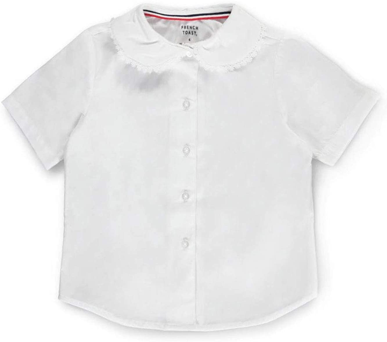 Attention brand Outstanding French Toast Little Girls' S Blouse Pan Lace Trim Peter