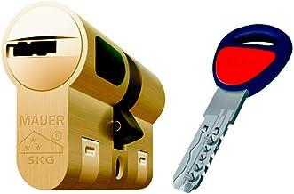 Bombin de seguridad MAUER NW5 31x31 color LATON, reforzado, antirotura, antibumping, antitaladro, leva antiextracción, cerradura para puerta, incluye 5 llaves el cilindro y tarjeta de seguridad