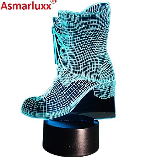 Stiefel Form Neujahr Nachtlicht 3D LED Tischlampe Kinder Geburtstagsgeschenk Nachtzimmer Dekoration