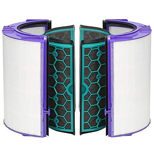 SPARES2GO Filtre HEPA 360° en verre et filtre à charbon actif compatible avec Dyson Pure Cool DP04 HP04 TP04