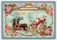 ハートアートコレクション ダイカットクリスマスポストカード