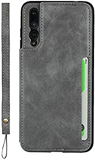 LINSMAO Cover Case for Huawei P20 Pro, Horizontal Kickstand PU Leather Wallet Case with Credit Card Slots Holder, Magnetic...