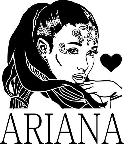 JXAA 3d poster R&B Singer Star Ariana Grande DIY Wall Art Sticker...