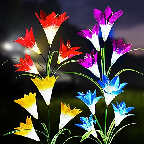 Solar String Lights Garden, Blossom Solar Powered Fairy Lights 8 Modes Waterproof Outdoor Flower String Lights Twinkle Fairy Lights for Patio Yard Wedding Party (Multicolor)