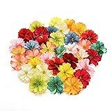 AZXU Lot de 50 Mini Fleurs artificielles en Soie pour décoration de Mariage DIY Couronne Clip Accessoires Faits à la Main