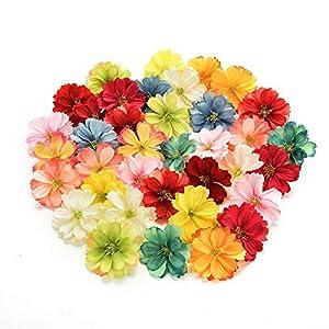 Azux – 50 piezas de flores artificiales de seda, para decoración de bodas, bricolaje, corona de flores, accesorios…