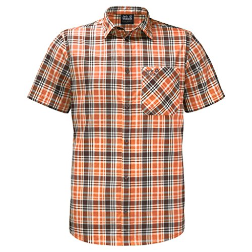 Jack Wolfskin Saint Elmos Chemise Homme Desert Orange Checks M