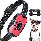 Collar Antiladridos de Perro Recargable para Medianos Grandes Sonido Humano Ajustable y Modo de Vibración para Entrenar Perros Ajuste de Sensibilidad de 7 Niveles - Rosa