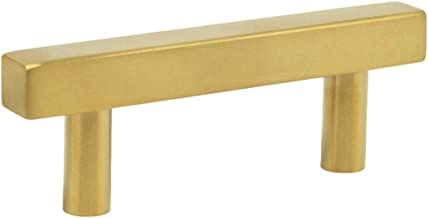 5 Pack Hole Center 96mm T Bar Kitchen Cabinet Handle roestvrij staal messing Badkamer lade trekt Gold Wardrobe Deurknoppen...