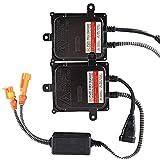 Chemini 2PCS Ultra Slim 12V 55W HID Digital Balastos Universal para H1 H3 H4 H7 H10 H11 9005 9006 D2r D2s Kit de conversión de bombilla de faro de coche HID