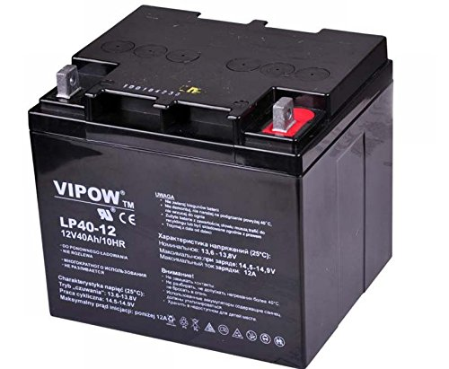 VIPOW - Batería de Movilidad 12V 40Ah Bateria de Ciclo Profundo de Gel. Pila Recargable. Acumulador ✅