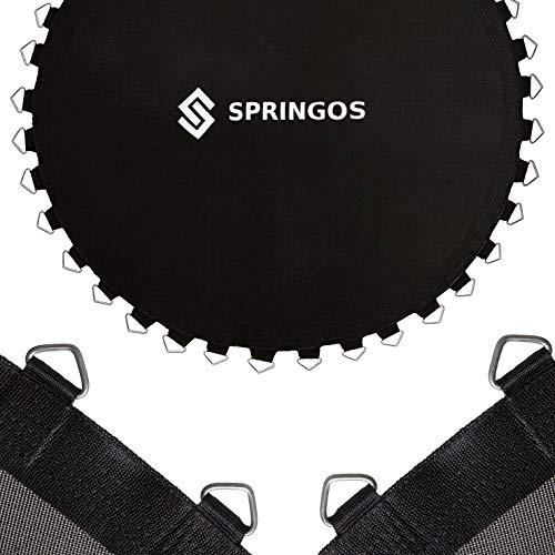 SPRINGOS Tappeto elastico con 48 occhielli in metallo per trampolino con diametro di 244 cm