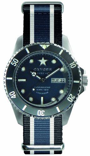 Oxygen Unisex-Armbanduhr Jean Analog Quarz Nylon EX-DV-JEA-42-NN-BLIVJE