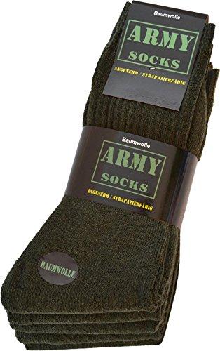 normani 25 Paar Army Sportsocken aus strapazierfähiger Baumwolle Farbe Grün Größe 39/42