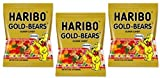 Haribo Original Gold-Bear Gummi Candies 4oz. Bags (Pack of 3)