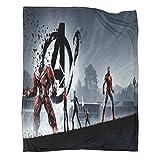 Xaviera Doherty Manta de franela de regalo de película de superhéroe de los Vengadores, 150 x 200 cm, para oficina, aire acondicionado, almuerzo, descanso, manta, manta para chal