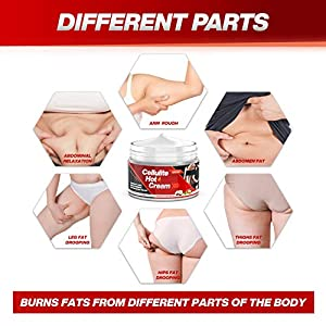 UMRAN Fat Burning Cream, Slimming Cream, Hot Cream, Best Weight Loss Cream, Skin Firming Cream for waist, belly, hips, thighs and arms - 4 oz, 120g