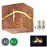 HOIHO Bois Crack Split bois Mur lampes créative originale en bois massif conduit...