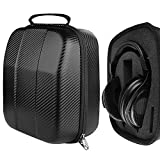 Geekria UltraShell Headphone Case for SHURE SRH440, SRH240A, HE1000, RCA WHP141B, Koss R80 UR40 UR-20 Edition X Headphones, Replacement Large Hard Shell Travel Carrying Bag (Black PU)