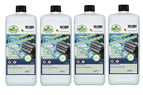 JaTop Scherkopfreiniger Nachfüllflüssigkeit [1l pro Flasche] - geeignet zum Nachfüllen von Braun Clean & Renew Synchro Activator & Pulsonic Series 3/5/7/9 Panasonic - Made in DE (4)