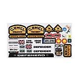 Micro Sponsor Logo Racing Hoja de pegatinas Universal para WPL y MN RC Car Crawler Sticker Parts RC Car Parts Durabilidad