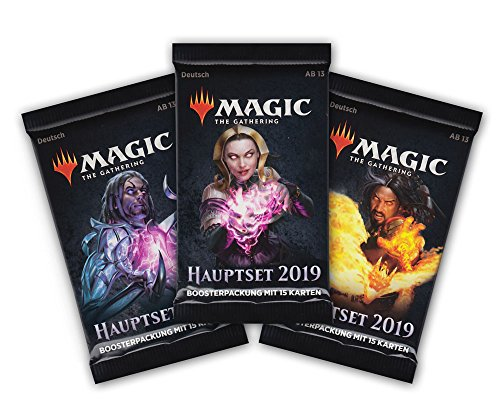 Magic the Gathering - Hauptset M19 - 3X Booster Packung - Deutsche Ausgabe