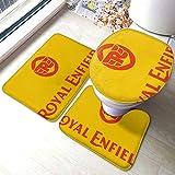 Royal-Enfield Comfort Collections - Juego de alfombrillas de baño (3 piezas)