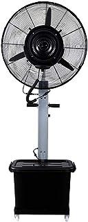Ventilador de Pedestal Suelo eléctrico Ventilador de refrigeración de pie Gran Angular Oscilante Enviar Viento Atomización Industrial 43L Gran Capacidad Automática Agregar Agua 3 velocidades Gris pl